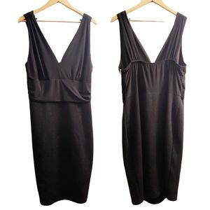 Libian Black Silver Sparkly Sleeveless Party L